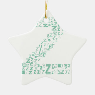 Font Fashion Z Christmas Ornament