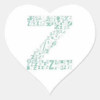 Font Fashion Z Heart Sticker