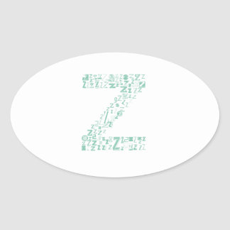 Font Fashion Z Oval Sticker