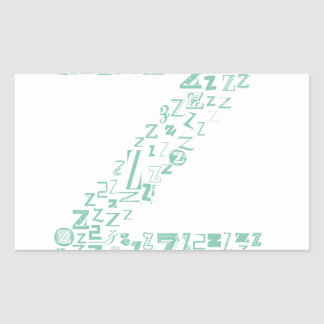 Font Fashion Z Rectangular Sticker