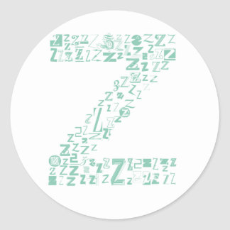 Font Fashion Z Round Sticker