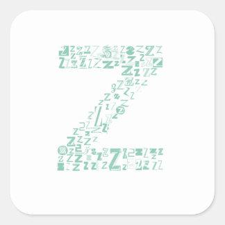 Font Fashion Z Square Sticker