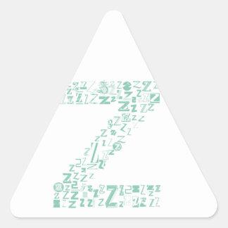 Font Fashion Z Triangle Sticker