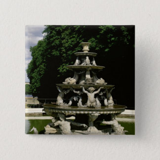 Fontaine de la Pyramide 15 Cm Square Badge