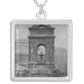 Fontaine des Innocents, 1547 Silver Plated Necklace