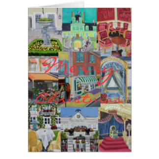 Fontainebleau Merry Christmas Collage Greeting Card