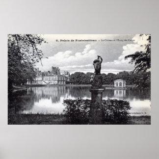 Fontainebleau Palace, France 1910 Vintage Poster