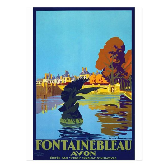 Fontainebleau Vintage Travel Poster Postcard