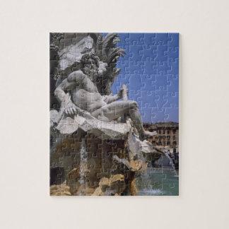 Fontana dei Quattro Fiumi, Piazza Navona, Rome, Jigsaw Puzzle