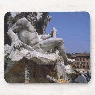 Fontana dei Quattro Fiumi, Piazza Navona, Rome, Mouse Pad