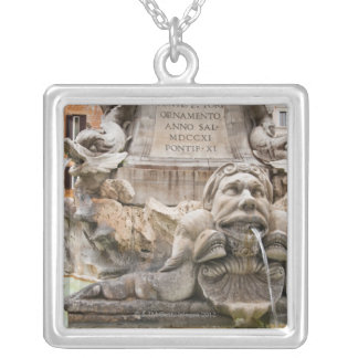 Fontana del Pantheon (1575) designed by Giacomo 2 Silver Plated Necklace