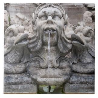 Fontana del Pantheon (1575) designed by Giacomo Large Square Tile