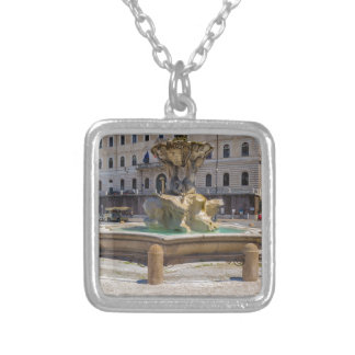 Fontana del Tritone Square Pendant Necklace