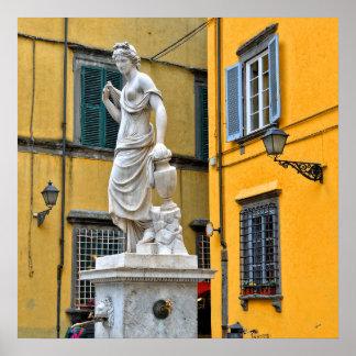 Fontana della Pupporona, Lucca, Italy Poster