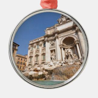 Fontana di Trevi in Rome, Italy Silver-Colored Round Decoration