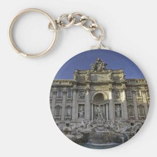 Fontana Di Trevi, Rome Basic Round Button Key Ring