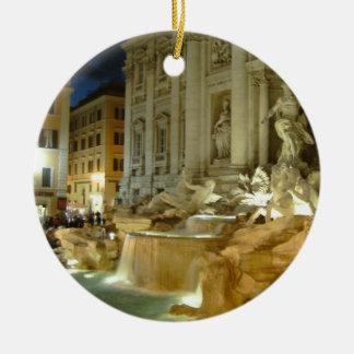 Fontana di Trevi Round Ceramic Decoration