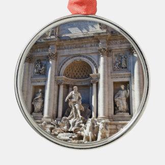 Fontana di Trevi Silver-Colored Round Decoration