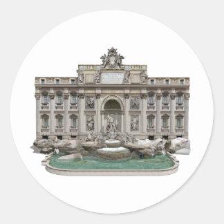 Fontana di Trevi: Trevi Fountain: 3D Model: Classic Round Sticker