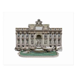 Fontana di Trevi Trevi Fountain 3D Model Post Card