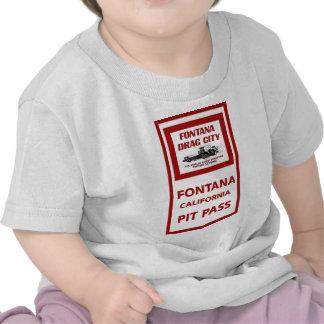 Fontana Drag Strip Pit Pass Tee Shirt