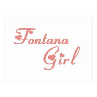Fontana Girl tee shirts Postcards