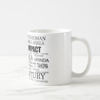 Fonts Coffee Mug