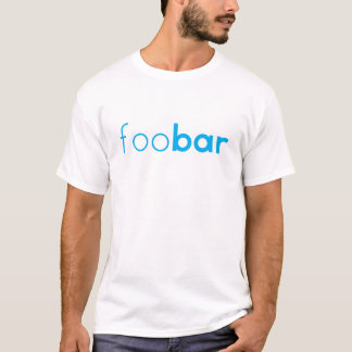 """foo bar"" Geeky coding design T-Shirt"