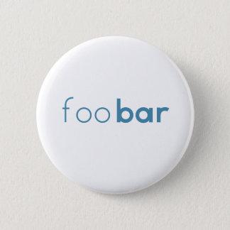 Foo Bar Minimalist Design 6 Cm Round Badge