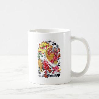 Foo Dog & Lotus Tattoo Design Basic White Mug
