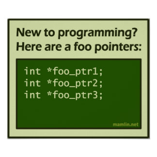 Foo Pointers (poster) Poster