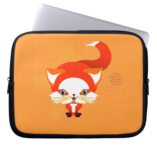 Foo the fox laptop sleeve