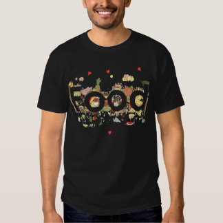 Food, a funny colourful foodie T-shirt design
