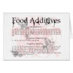 food additives greeting card