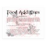 food additives postcard