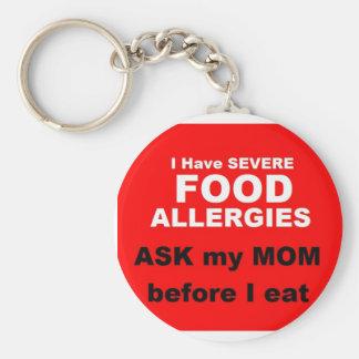 Food Allergies Key Ring