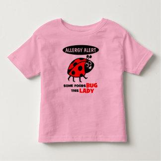 Food Allergy Alert Ladybug Shirt