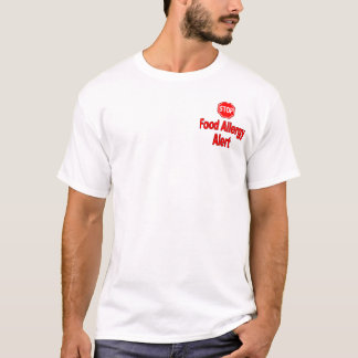 Food Allergy Alert - Pocket Logo T-Shirt