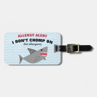 Food Allergy Alert Shark Tag for Medical Kit