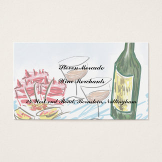 Food and wine artwork business cards