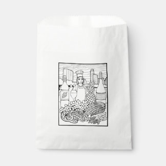 Food and Wine Festival Line Art Design Favour Bags
