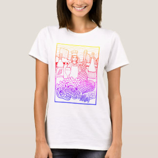 Food and Wine Festival Line Art Design T-Shirt