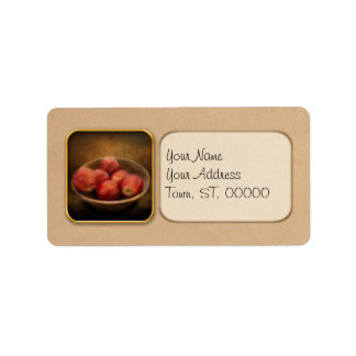 Food - Apples - A bowl of apples Address Label