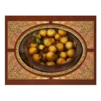 Food - Apples - Golden apples Postcard