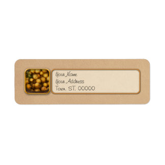 Food - Apples - Golden apples Return Address Label