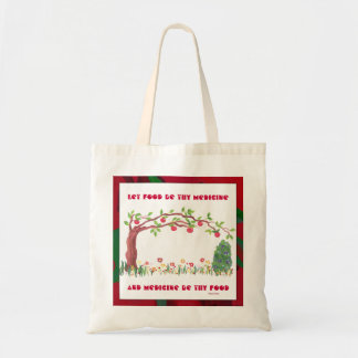 food as medicine budget tote bag