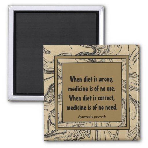 food as medicine fridge magnet
