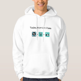 food-beer-sleep hoodie
