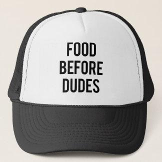 Food Before Dudes Trucker Hat