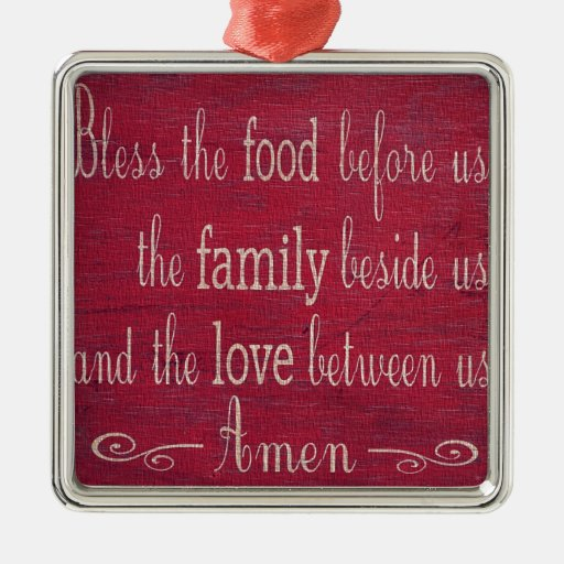 Food Blessing Christmas Ornaments